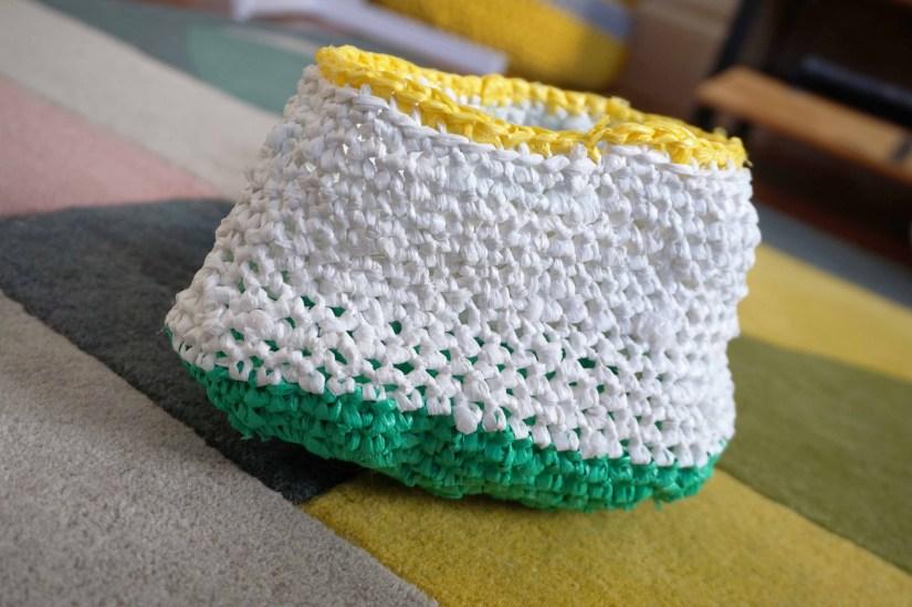 Le célèbre Petite panière au crochet avec des sacs plastiques recyclés – flodiy #WT_52